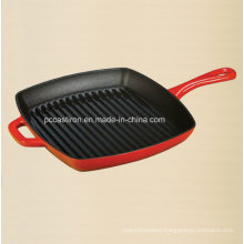 24cm Cast Iron Frying Pan with LFGB, FDA, Ce, ISO Certificate