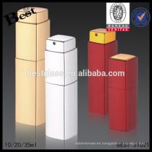 10/20 / 35ml cuerpo de aluminio barato botella de spray de vidrio vacía para perfume