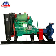 CE certification of six cylinder fire fighting mixed flow pump with large amount of water