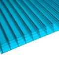 Blaues 4 Wand Polycarbonat Multiwall Blatt (OEM verfügbar)
