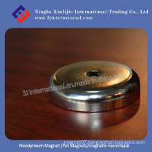 Neodymium Pot Magnets/Magnetic Round Base/Holding Magnet