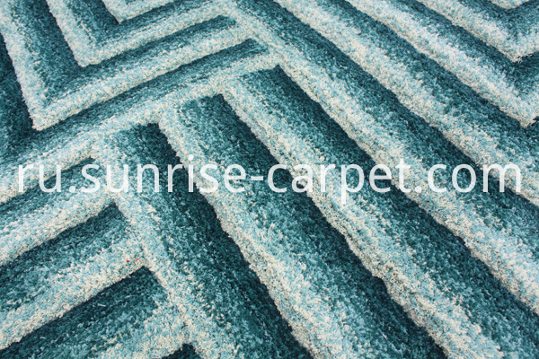 Microfiber Shaggy with 3D Design carpet