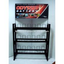 Accesorios de automoción para automóviles Tienda al por menor Soporte independiente de 3 voltios de 12 voltios de la batería de la batería