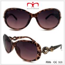 Plastik Damen Schmetterling Sonnenbrille mit Metall Dekoration (WSP508318)