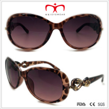 Plastic Ladies Butterfly Sunglasses with Metal Decoration (WSP508318)
