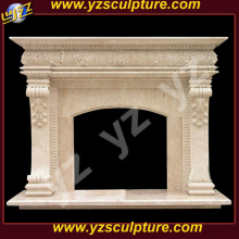 Travertin marmer Franse stenen open haard Mantel Surround