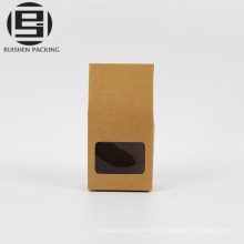 Cajas de embalaje de papel kraft marrón con mangos de parche