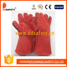 "Red Cow Split Welder Gloves. Size: 14"" (DLW615)"
