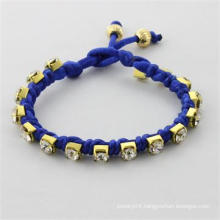 2014 fashion bracelet bangles golden beads with cotton rope bracelet women bracelet