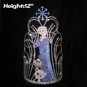 12in Height Crystal Snowflake Frozen Pageant Crowns