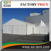 10X20m Kombinierte Aluminium-Truss-Zelte zum Verkauf mit 2 Pagoden-Vordächern nebeneinander