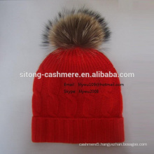 Fox Fur Cashmere cap