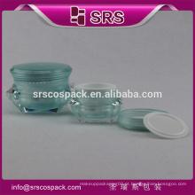 SRS livre amostra cosméticos creme frasco vazio, 1oz cosméticos acrílico creme frascos fabricantes
