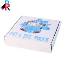 Caja de envío de cartón plegable de alta calidad personalizada color blanco