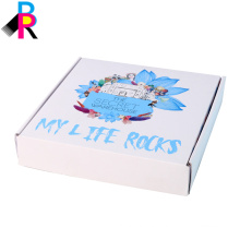 Customized folded white color high quality cardboard shipping box