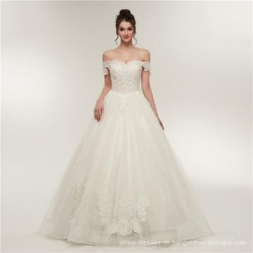 Luxus Lace bodenlangen Hochzeitskleid Ballkleid Schatz Brautkleid Kleider 2018