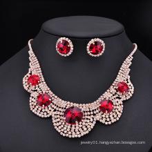 Flower girl jewelry necklace set