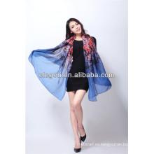Impresión de la manera de la alta calidad de las mujeres toda la bufanda / el mantón largos del fósforo