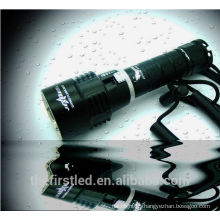 High Power Underwater 100Meter 650Lumen 1xCREE XM-L2 T6 LED Portable Professional Dive flashlight