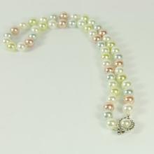 Colored Pearl Bead Necklace