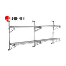 NSF Chrome Metal Wall Mounted Wire Shelving