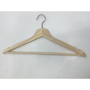Bonne qualité tissu vêtement haut chemise cintre en bois
