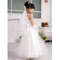 White Children Wedding Frocks Dress Design Flower Girl Floor Length Children Wedding Dresses