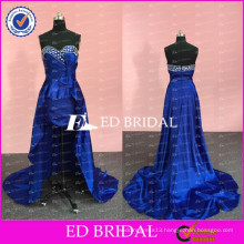 ED Bridal New Collection Royal Blue Beaded Sweetheart Short Front Long Back Prom Dress 2017