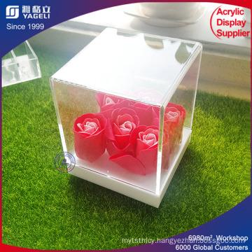Cute Design 2017 Latest High End Acrylic Flowers Box