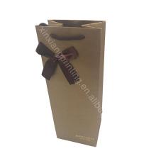Logotipo personalizado! Venta caliente mejor calidad bolsa de papel de vino,