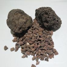 Milieux filtrants de roche volcanique pour le traitement des eaux usées domestiques