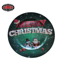 Merry Christmas Plastic Charger Plate with Printing