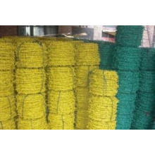 Green PVC Barbed Wire Used in Protection