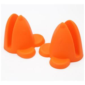 Cartoon Design Orange Fox Head Silicone Glove Mitten