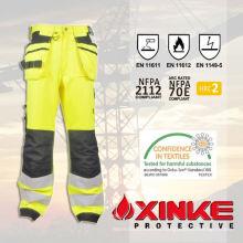 Pantalones reflectantes FR de equipo Safty con bajo formaldehído