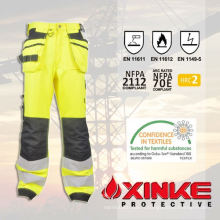 Pantalon FR réfléchissant d'équipement de Safty avec le bas formaldéhyde