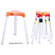 Bunte Büro Stapeln Metall Malerei Kunststoff Stuhl (E2014-R)