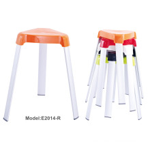 Colorful Office Stacking Metal Painting Plastic Chair (E2014-R)