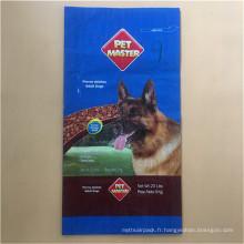 Sac de nourriture plastifié pour chien, 20 lb
