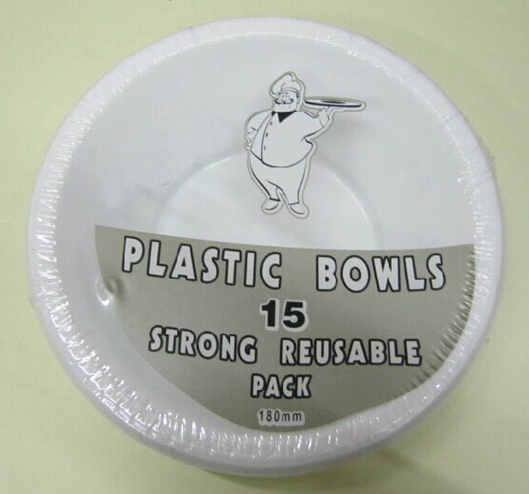 15pcs palstic bowls
