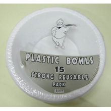 15pcs Disposable PS Bowl Set