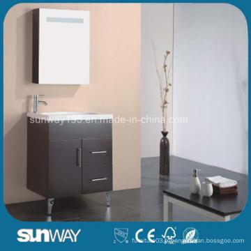 Mobilier de salle de bain MDF pour peintures brillantes avec évier