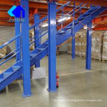 Almacén de acero prefabricado, altillo de almacén de estantería ajustable y plataforma