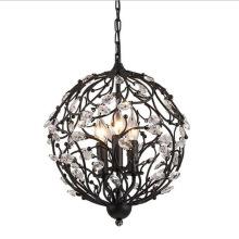 Home decorative modern black vintage retro lighting fixtures Crystal chandeliers