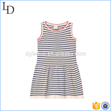 Comfortable and soft material kids casual dress cotton frocks for sports