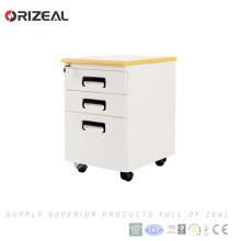 Pedestal móvil de alta calidad del gabinete de archivo del metal de 3 cajones de Orizeal (OZ-OMP004)
