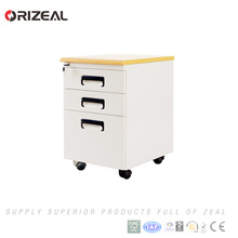 Orizeal high quality 3 drawer metal file cabinet mobile pedestal(OZ-OMP004)