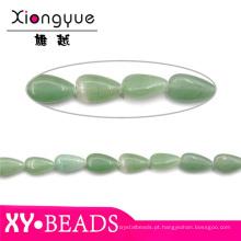 Aventurina verde Waterdrop jóias de pérolas e pedras atacado