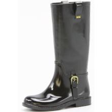 Noir bottes de pluie moto de belle femmes