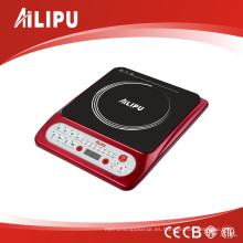 Cocina de inducción de cerámica eléctrica del control del botón 1500W ETL
